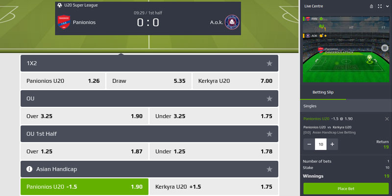 Scommesse in-play o scommesse live